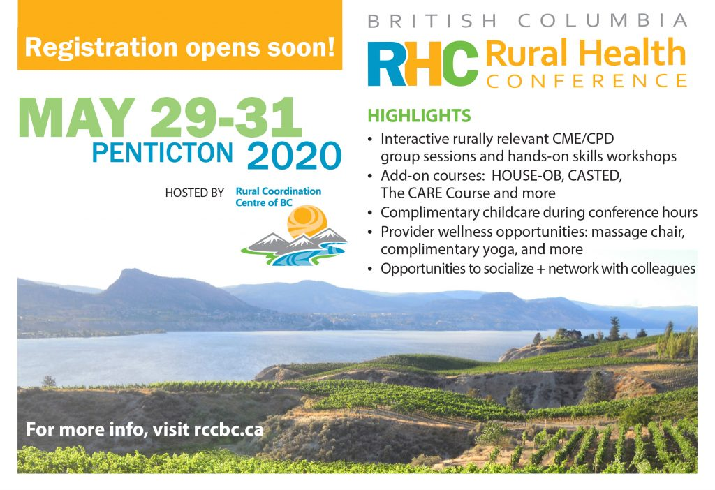BC Rural Health Conference @ Penticton Trade and Convention Centre